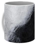 Black And White Fibers - Yin And Yang Coffee Mug