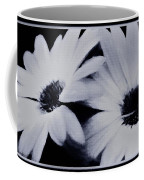 Black And White Floral Art Coffee Mug