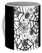 Black And White Halloween Coffee Mug