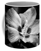 Black And White Hibiscus  Coffee Mug