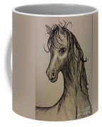 Black And White Horse Coffee Mug by Ginny Youngblood