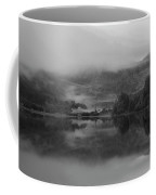 Black And White Landscape Of Llyn Crafnant During Foggy Autumn M Coffee Mug