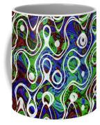 Black And White Lines Overlay Abstract Coffee Mug