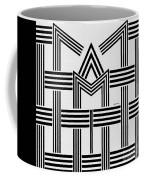 Black And White M Coffee Mug