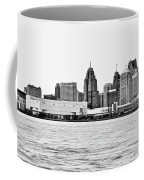Black And White Motor City Pano Coffee Mug