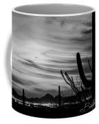 Black And White Night In Arizona Coffee Mug