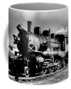 Black And White Of An Old Steam Engine  Coffee Mug