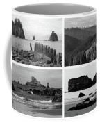 Black And White Olympic National Park Collage Coffee Mug