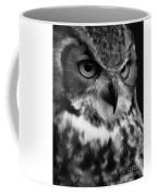 Black And White Owl Painting Coffee Mug