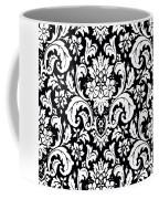 Black And White Paisley Pattern Vintage Coffee Mug