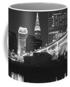 Black And White Panorama Of Cleveland Coffee Mug