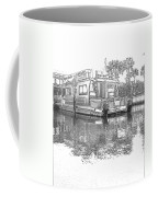 Black And White Party Boat Coffee Mug