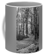 Black And White Path In Autumn  Coffee Mug