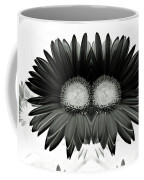 Black And White Petals Coffee Mug