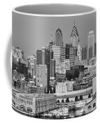 Black And White Philadelphia - Delaware River Coffee Mug