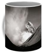Black And White Photo Of Snow Peak In Nepal Coffee Mug