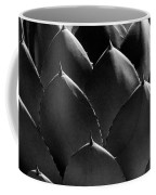 Black And White Photographic Detail Of California Cabbage Cactus Agave Coffee Mug