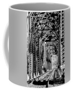Black And White Railroad Coffee Mug