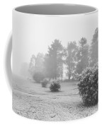 Black And White Snow Landscape Coffee Mug