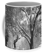 Black And White Snowy Landscape Coffee Mug