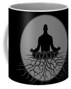 Black And White Spiritual Grounding Coffee Mug