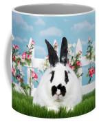Black And White Spring Bunny Coffee Mug