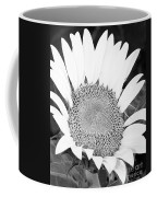 Black And White Sunflower Face Coffee Mug