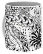 Black And White Tangle Art Coffee Mug