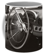 Black And White Thunderbird Steering Wheel And Dash Coffee Mug