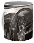 Black And White Thunderbird Steering Wheel  Coffee Mug
