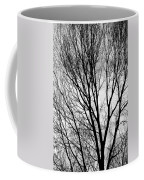 Black And White Tree Branches Silhouette Coffee Mug
