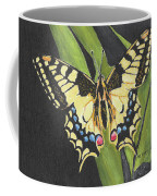 Black And Yellow Butterfly Coffee Mug