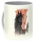 Black Arabian Horse 2013 11 13 Coffee Mug