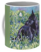 Black Australian Kelpie Coffee Mug by Lee Ann Shepard