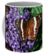 Black Butterfly On Heliotrope Coffee Mug