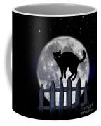 Black Cat And Full Moon 3 Coffee Mug