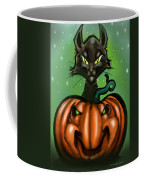 Black Cat N Pumpkin Coffee Mug