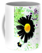 Black Daisy Coffee Mug