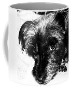 Black Dog Looking At You Coffee Mug