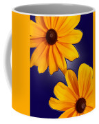 Black-eyed Susans On Blue Coffee Mug