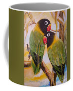 Black Faced Love Birds.  Chloe The Flying Lamb Productions  Coffee Mug
