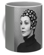 Black Felt Skull Cap Model Coffee Mug