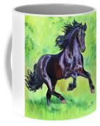 Black Friesian Horse Coffee Mug