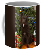 Black German Shepherd Card Coffee Mug