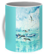 Black-headed Seagulls At Seven Seas Beach  Coffee Mug