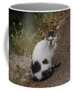 Black Heart Cat Coffee Mug