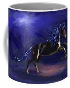 Black Horse At Night Coffee Mug