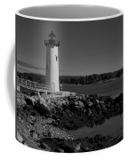 Black N White-portsmouth Harbor Lighthouse Coffee Mug