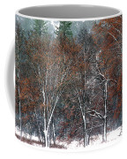 Black Oaks In Snowstorm Yosemite National Park Coffee Mug