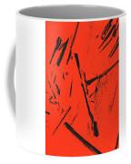 Black On Red Coffee Mug